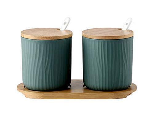 Koala Superstore Giapponese Creative Porcelain Condiment Jar Household Oil Chili Spice Jar, Verde