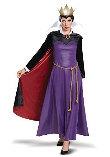 Disguise Women's Evil Queen Deluxe Adult Costume, Purple, S (4-6)