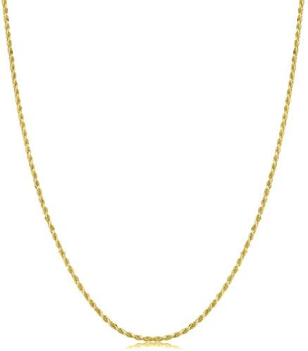 18K Gold 1 5MM Diamond Cut Rope Chain Necklace 18K Gold Rope Chain 18K Gold Necklaces 18K Gold product image