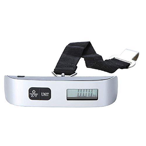 Relaxbx Taschenwaage, 50 kg, mit Haken, Gürtelwaage, LCD-Digitalwaage für Reisekoffer, Gepäck, Hängewaage