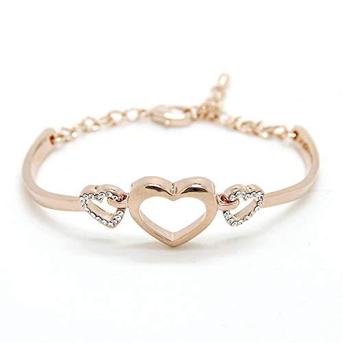 XBJ Pulsera de Mujer, Pulsera de Amor de Moda, Pulsera de Fragancia pequeña de Diamantes de Gama Alta, Pulsera de Amor Hueco