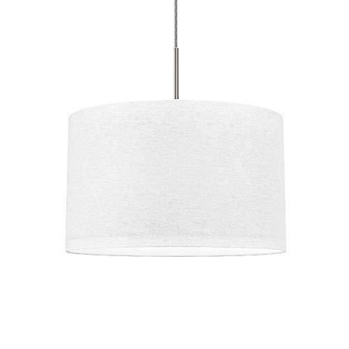 lampada a sospensione bianca B.K.Licht Lampada a sospensione in tessuto bianco