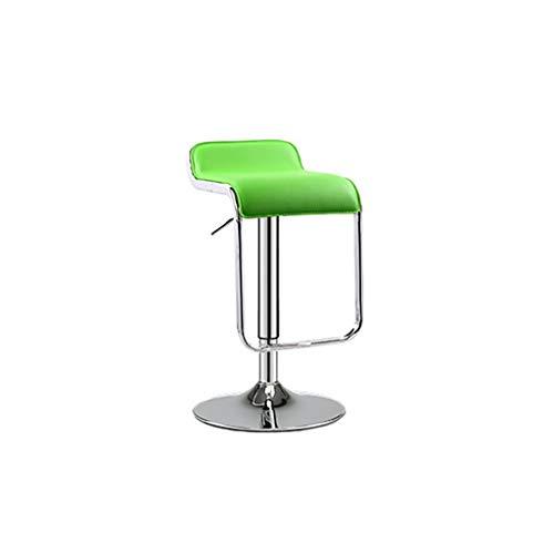 Taburete de bar GCX- Silla de Bar Elevación Inicio Taburete Alto Silla de Bar Taburete Alto Giratorio Silla de Bar Duradero (Color : Green)