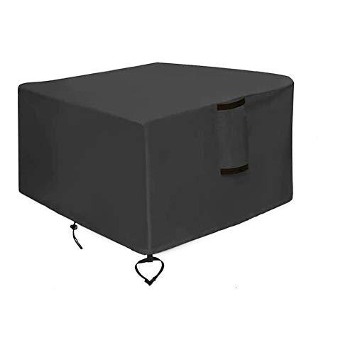 Phoetya Quadratische Feuerschalen-Abdeckung mit Feuerschale, geeignet für quadratische Feuerstelle, wasserdicht und lichtbeständig, Schutz für alle Jahreszeiten (82 x 82 cm)