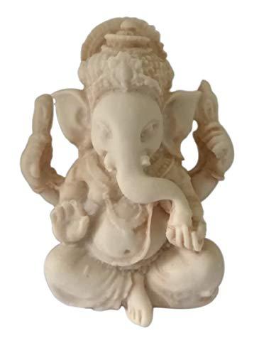 Ganesh miniatur glücksbringer - Figur Elefant Gott der Glück der Weisheit, der Intelligenz, Beseitigung aller Hindernisse - Ganesha Talisman - Handgemaltes Harz - Mini Statue H 5 cm