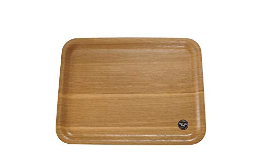 エメリー商会 トレー 木製 M ノンスリップ ブラウン 約長さ36×幅28×高さ1cm 食器類が滑らない 自然な風合 ランチョンマットとして使用可能 LG19002