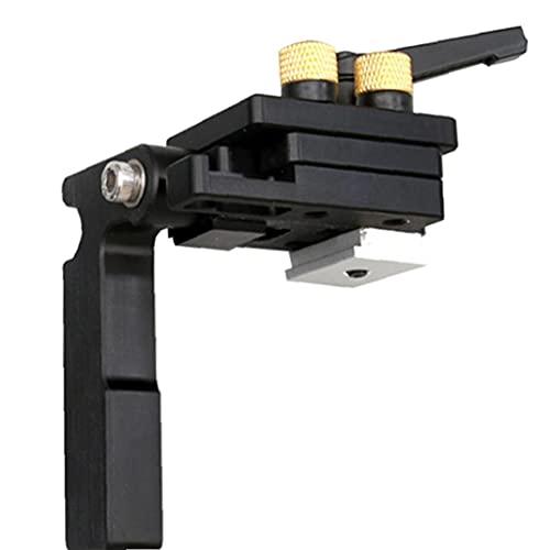 Odoukey-Hardware Mitre Track STOP MITER MITRE TIENDA T-SLOT MITE GUÍA MITE Tapón Chute Limitador Dedicado Aleación de aluminio Para Guía Firro Carpintería Negro