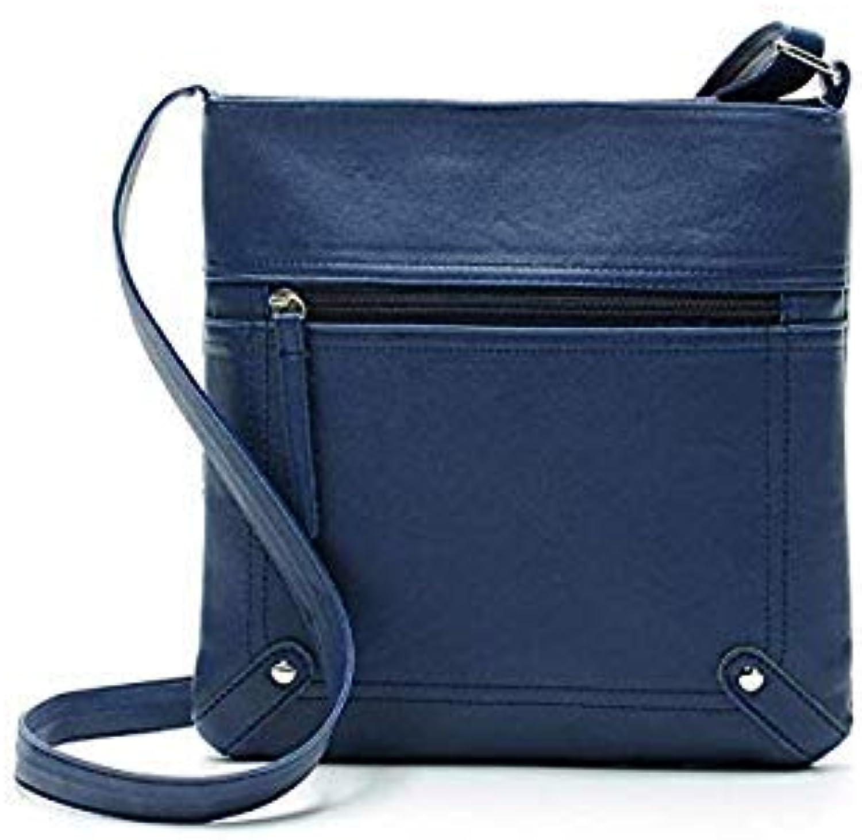Bloomerang 2018 Fashion Womens Leather Satchel Cross Body Shoulder Messenger Bag Handbag Men Vintage Unisex Pouch Clutch high Quality xxf color blueee