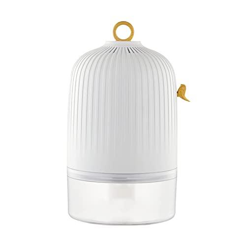 Deumidificatori con serbatoio dell'acqua visivo, 300 ml al giorno, deumidificatore d'aria ultra silenzioso con spegnimento automatico e asciugatura del bucato, per armadio guardaroba roulotte armadio