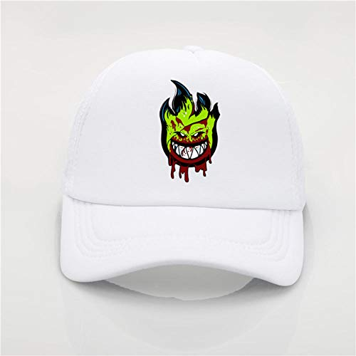Axlgw Spitfire Wheels Skateboard Zombie Print Baseball Cap Fashion Herren S Sommer Sonnenhut weiß