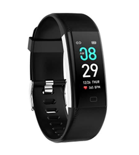 Twnhmj Fitness Tracker Wasserdicht IP68 mit Pulsmesser 0,96 Zoll Farbbildschirm Smartwatch Aktivittstracker Pulsuhren Schrittzaehler Uhr Smart Watch Fitness Uhr für Damen Herren,Schwarz