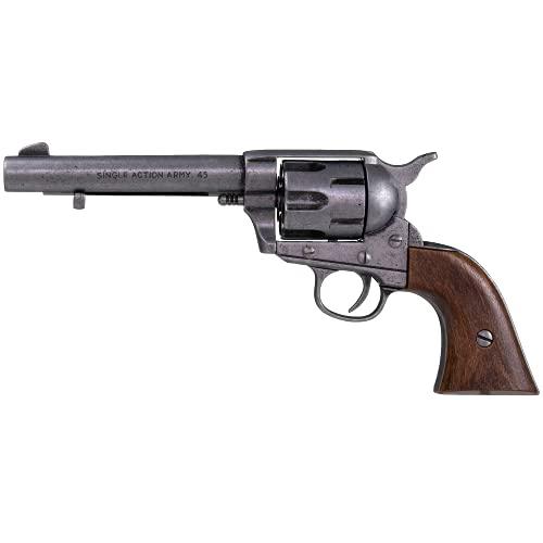 KOLSER Revolver Colt Peacemaker 5'5' USA 1873 colore metallo invecchiato e conchiglie imitazione legno 27 cm