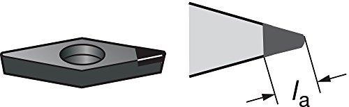 "Sandvik Coromant CoroTurn 107 PCD Turning Insert, VCMW, 35 Degree Diamond, FP Chipbreaker, CD10 Grade, Uncoated, VCMW 333FP, 3/8"" iC, 0.0472"" Corner Radius (Pack of 1)"