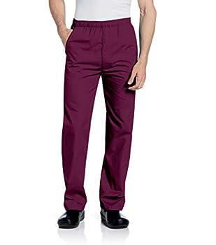 Landau Men s Durable and Comfortable Elastic Waist Drawstring Scrub Pant Wine 3X-Large