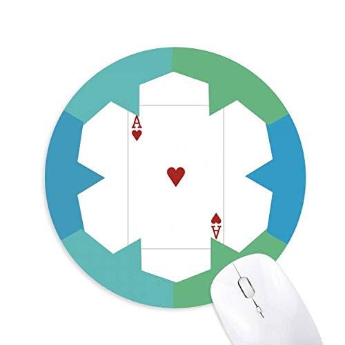 Herz und Spielkarten Muster rund um Gummi Blaue Schneeflocke Maus Pad