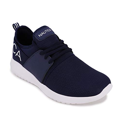 Nautica Women Fashion Sneaker Lace-Up Jogger Running Shoe-Kappil-Navy Texture-9.5