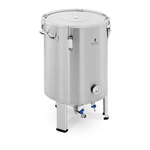 Royal Catering RCBM-60CF Maischekessel 60 l 0-40 °C Edelstahl Fermenter Fermentierkessel