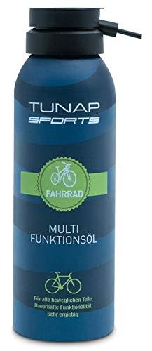TUNAP SPORTS Multifunktionsöl, 125 ml | Spray für alle Teile am Fahrrad, Wartung und Pflege an MTB, Rennrad, E-Bike (125ml)