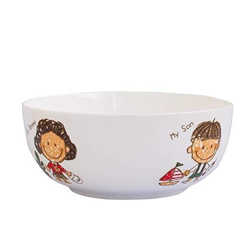 Home Big Wrist Bowl, Home Creatieve Bone China Servies, Gepersonaliseerd Servies, Granen Western Dessert Fruit Salade Bowl Soep Pap Bowl, Magnetron Oven Decoratieve Hotel Retro Soep Bowl