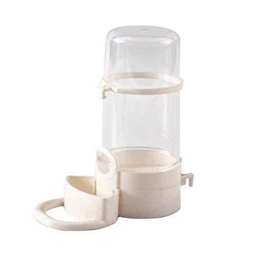 Comedero para Pájaros Bebedero De Agua para Pájaros Bebedero con Clip Suministros para Pájaros para Mascotas Dispensador Botella Taza para Beber Tazones para Mascotas Jaula para Loros Blanco