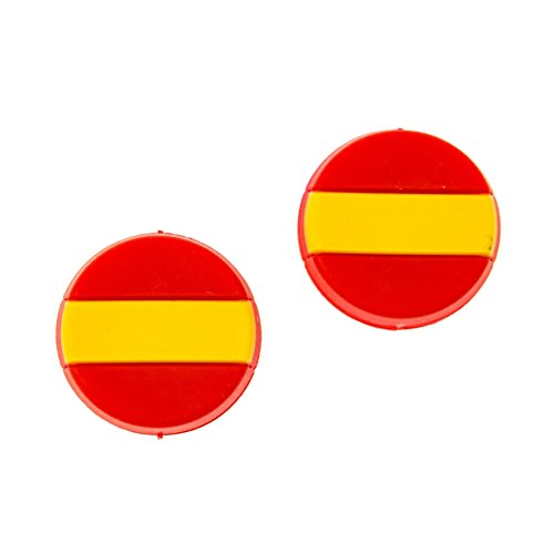 Tennis Feel • Banderas Nacionales • Antivibradores de Raqueta de Tenis • 7 países • 2/5 Packs (España, 2 pcs)