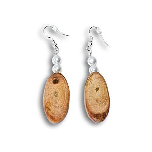 4betterdays Ohrringe aus Zirben-Holz - Holzschmuck - Handgemacht in Österreich
