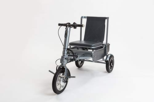 eFOLDi Mobility Scooter Air Safe Model - Lightweight 3 Wheel Electric Scooters for Adult (Grey)