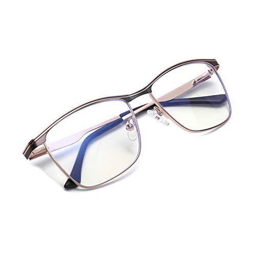 Zéro D Chic Square Blue Light Blocking Glasses Computer Eyeglasses Anti Eyestrain Eyewear Frame Men Women