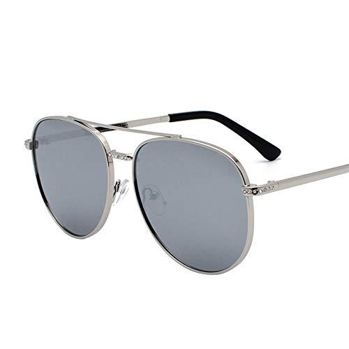 Gafas de Sol Gafas De Sol De Metal Película De Color Gafas De Sol Reflectantes Anti-UV Simple protección para los Ojos (Color : B)