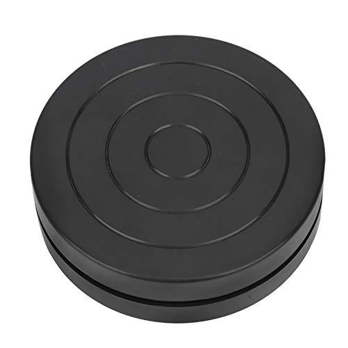 Plato giratorio de plástico de arcilla artesanal de 11,5 cm, rueda de cerámica de plástico de doble cara, mesa de rotación de clase de arte pequeña para accesorios de herramientas de escultura