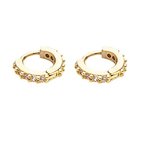 Faderr Pendientes de aro de joyería de diamante brillante para mujeres y niñas, pendientes de aro con purpurina para cartílago