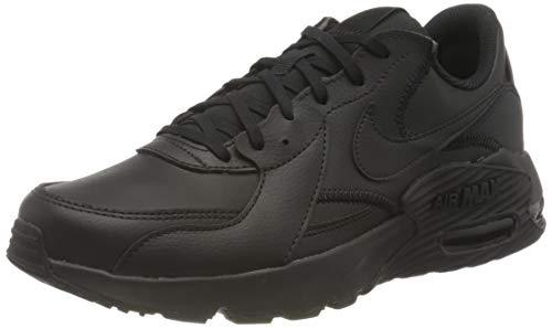 Nike Air Max Excee Leather, Scarpe Uomo, Black/Black-Black-lt Smoke Gre, 41 EU