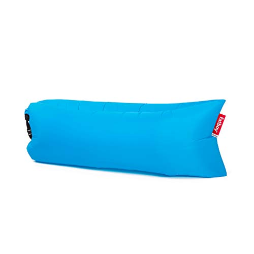 Fatboy Lamzac The Original Version 1 Inflatable Lounger with Carry Bag, Inflatable Couch for Indoor or Outdoor Hangout or Inflatable Lounge Air Chair - Aqua Blue