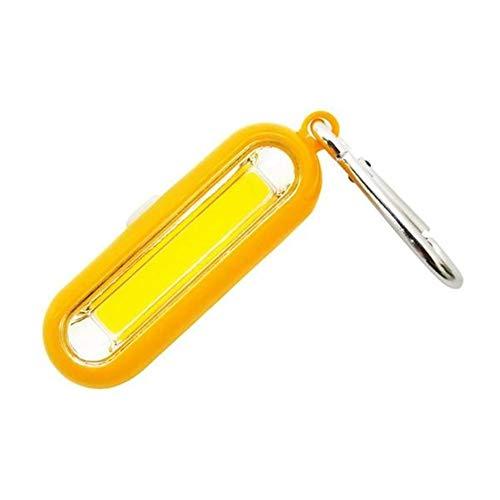 Xiong Xu Leggero e Portatile Mini COB LED Tasca di Campeggio Portatile del Lavoro della Luce della Torcia elettrica Keychain for Escursione Esterno Che Pesca No Need To Plug in (Colore : Yellow)