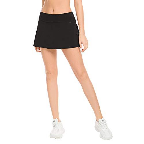 Queenieke - Falda de tenis para mujer con pantalones cortos deportivos Negro  XXL