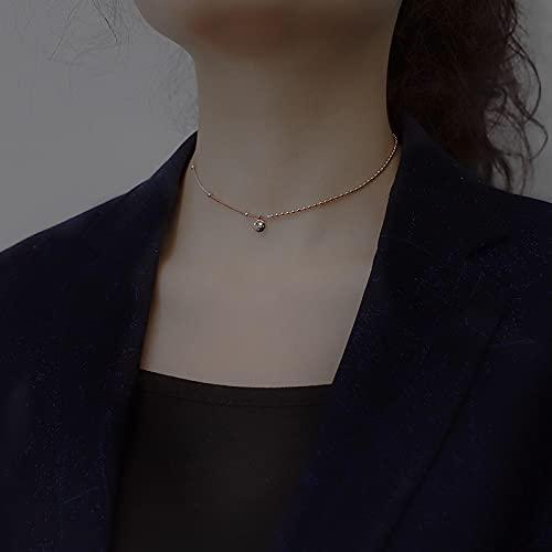 Collar Joyas Collar De Cadena De Cuentas De La Suerte De Moda, Cadena De Clavícula, Collar con Dije De Letras Lucky para Mujer, Joyería, Regalos, Or