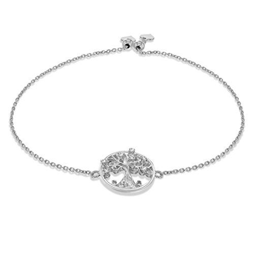 Tuscany Silver Damen - Armband 925 Rundschliff Zirkonia 8.29.6794