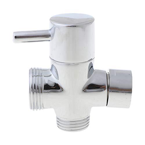 Folewr T-Adapter - Válvula de 3 vías para desviador de baño, inodoro y bidé, cabezal de ducha