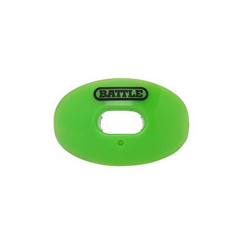 Battle Oxygen - Protector bucal Deportivo para fútbol, máximo Suministro de oxígeno, Boquilla se Adapta con o sin Tirantes, Protector de Impacto Protege los Labios y los Dientes