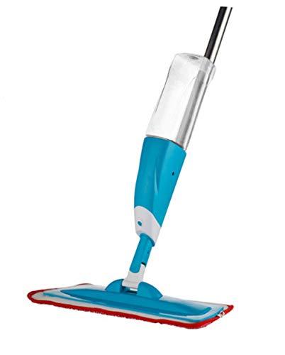 Kitrack Mopa con Vaporizador Pulverizar Microfibra Fregona Botella De 700ml Aplicable En Seco Y HúMedo,Blue
