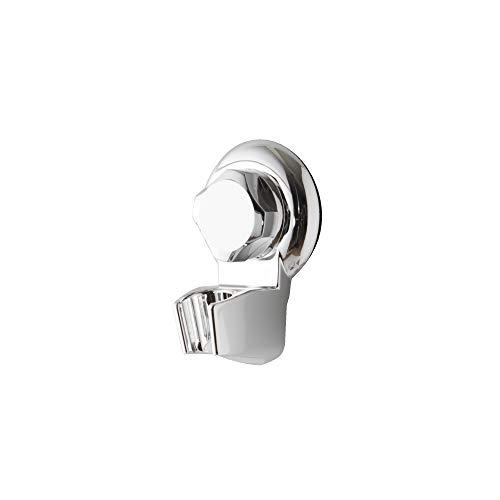 Rangement & Cie Compactor Soporte para Cabezal de Ducha de Pared, Fijación con Ventosa, hasta 6 kg, Acero Cromado Antioxidante, 7 x 5,5 x Al.11 cm, RAN4713