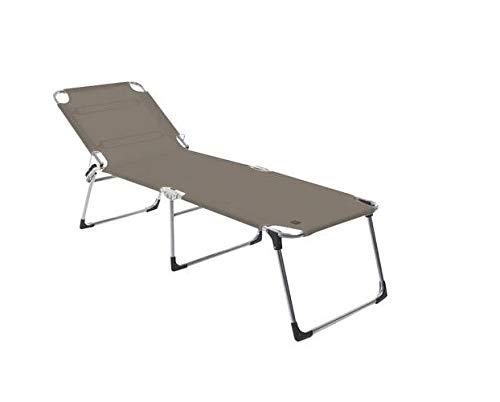 Jan kurtz fiam amigo fourty chaise longue trois pieds 442176 taupe 42 cm