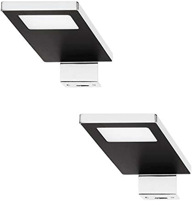 Gedotec LED Anbauleuchte Spiegel-Leuchte 12V Schrankleuchte LOOX 2033 Stahl verchromt - schwarz  kaltwei 4000 K  Aufbauleuchte IP44 geprüft  1 Stück
