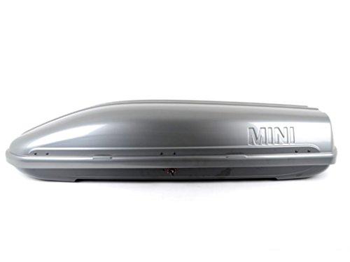 Original MINI Dachbox 320 Liter dunkel - silber / grau mit schwarzen Racing-Stripes