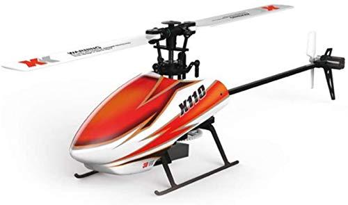 Wghz Helicóptero RC 4 Canales de una Sola Hoja 2,4 GHz helicóptero de Control Remoto RTF Radio Control Gyro Juguetes para niños y niñas Regalo de cumpleaños