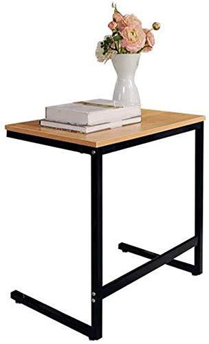 GAOZHEN Nest of Tables Mesa de Centro Blanca Mesas auxiliares Mesa para Laptop Lapdesks Sofá Extremo Lateral Soporte múltiple Ctype Coffee Marco de Hierro Forjado para Todas Las Estaciones de trabaj
