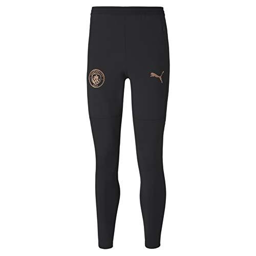 PUMA Herren MCFC Training Pants w Pockets and Zip Legs Jogginghose, Black-Copper, XL
