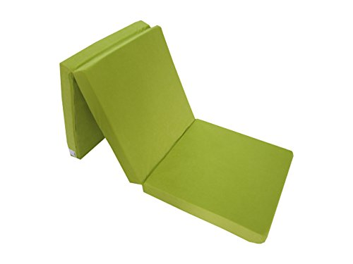 Natalia Spzoo Cama de invitados, colchón plegable 195 x 65 x 8 cm (Verde claro)
