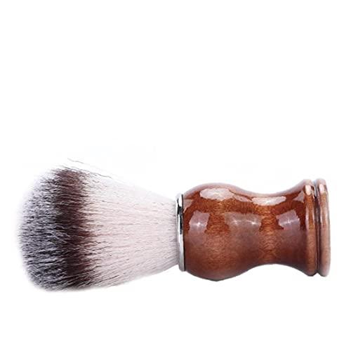 Blaireau blaireau brosse à cheveux avec poignée en bois Barber outil Mode pour hommes rasage et rasage Produits d épilation