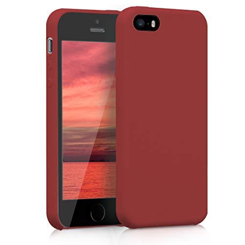 kwmobile Apple iPhone SE / 5 / 5S Hülle - Handyhülle für Apple iPhone SE / 5 / 5S - Handy Case in Dunkelrot